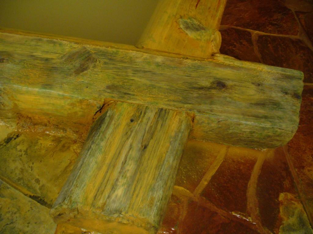お湯の歴史を刻んできた、浴槽の枠を担っている木