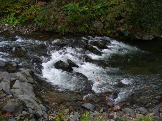 遠音別川の渓流。