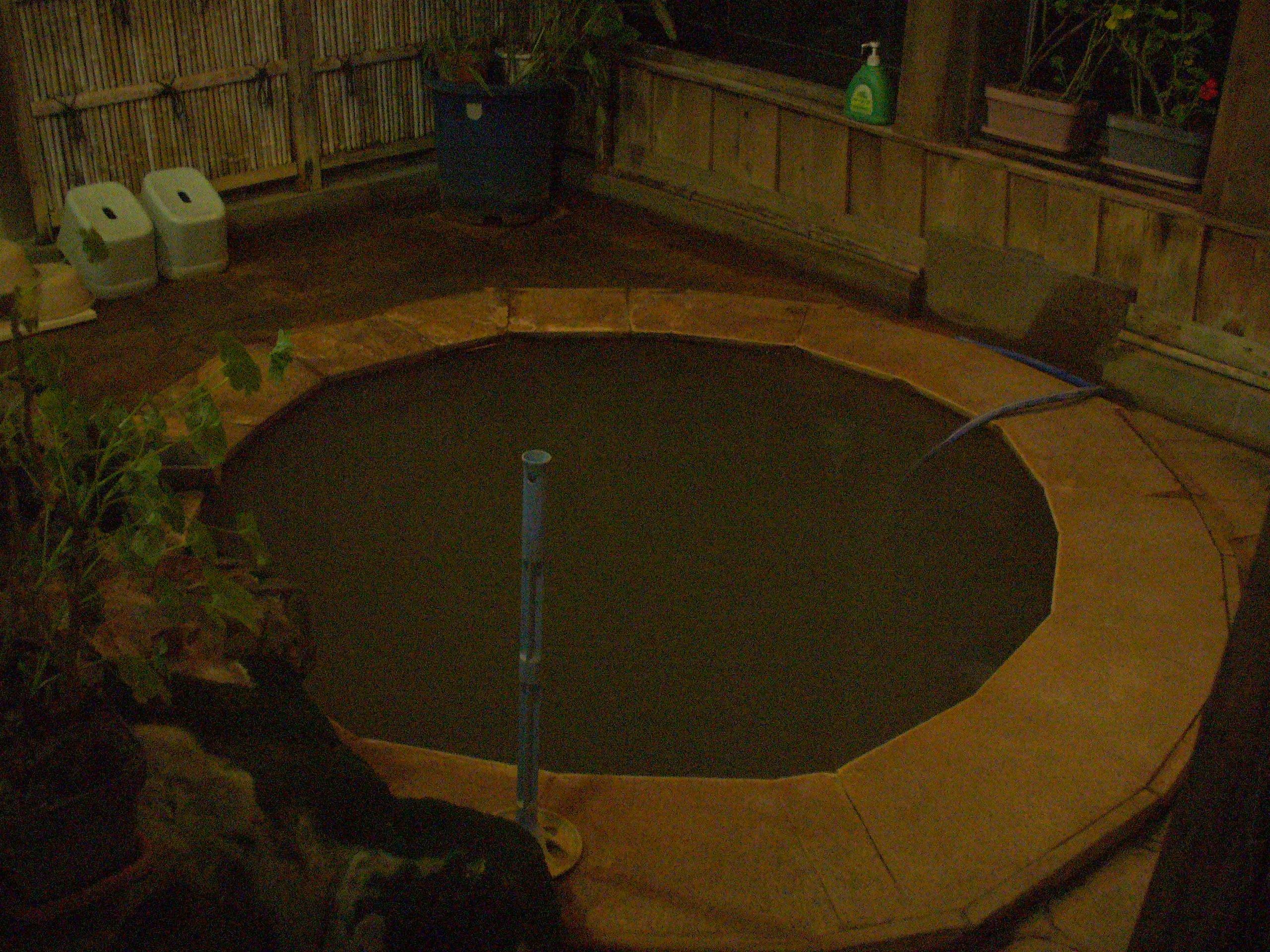 内風呂の「赤城名月風呂」。加温してあるのか少し温度が高めでした。