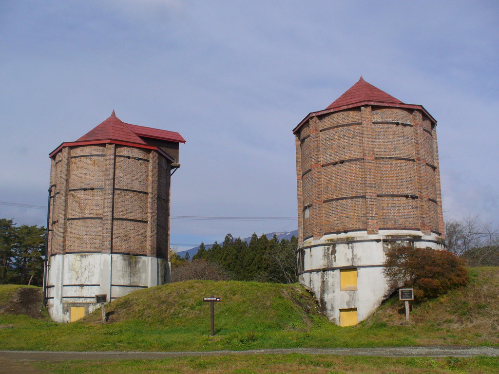 国内最古のサイロも健在。1907年に建てられたもの。