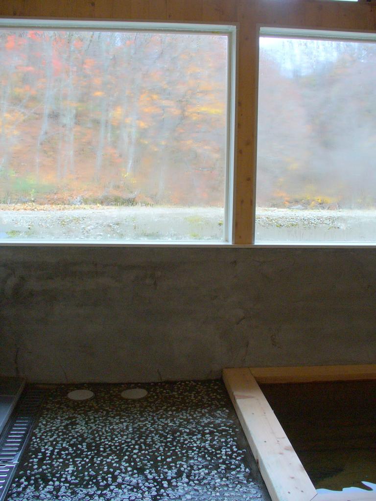 お風呂からの景色もきれいです!