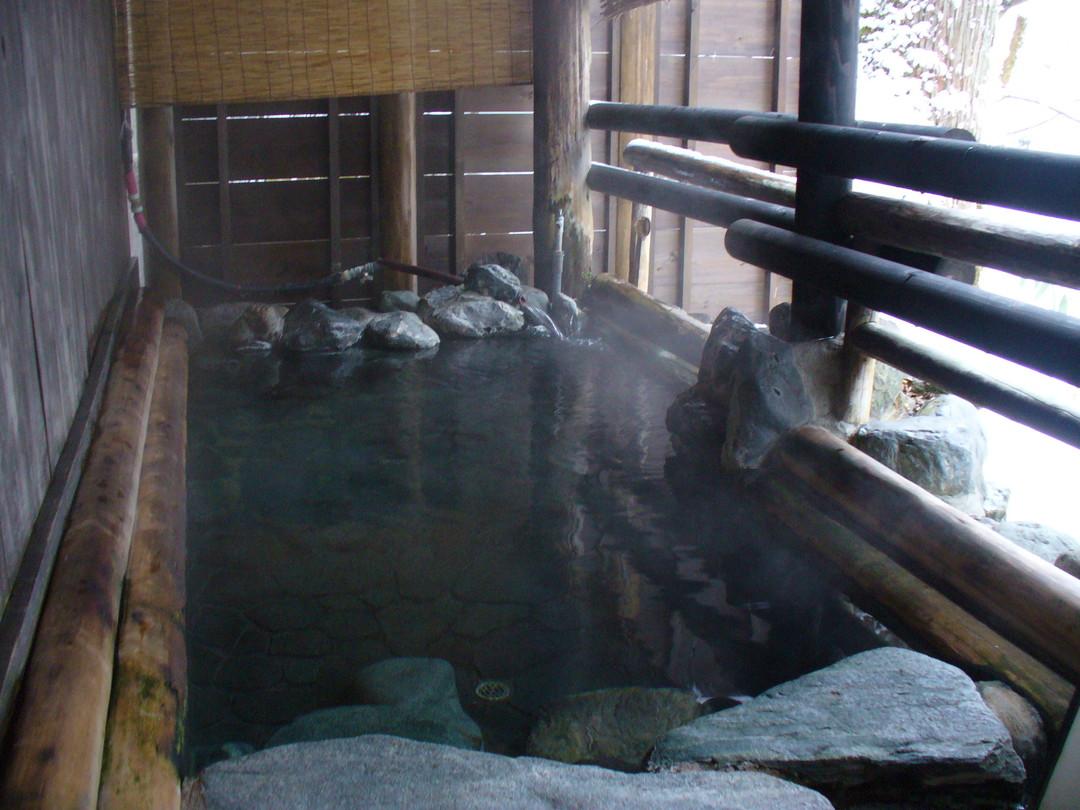 うけづの湯。露天風呂です。