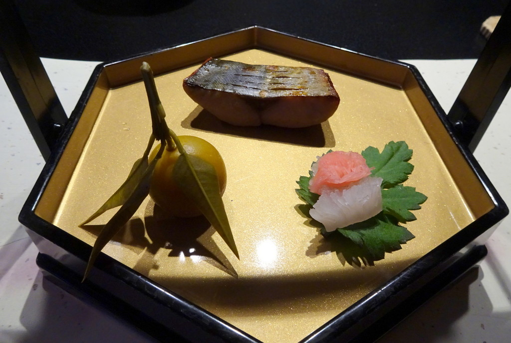 さいごの旅で食べた、お宿の夕食の一部。